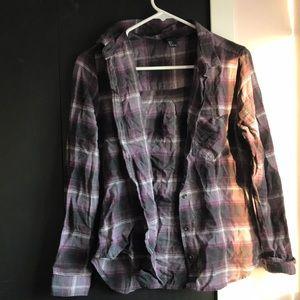 Purple, black, gray, white soft flannel!